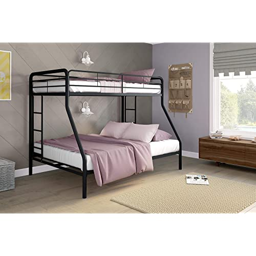 Buy Dhp Twin Over Full Bunk Bed With Metal Frame And Ladder Space Saving Design Black Online In Slovakia B004lq1r4c